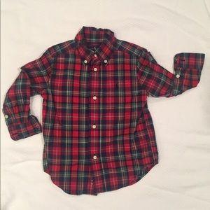 2T Polo Plaid Woven Shirt